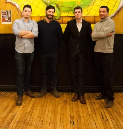 Kuba Kierlanczyk, Brad MacDonald, host Jonathan Jarry, and JP the Apostate