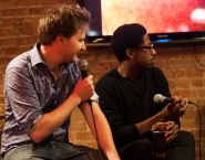 Andrew Cody and comedian Chris Sandiford
