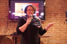 Comedian Gina Granter does stand-up