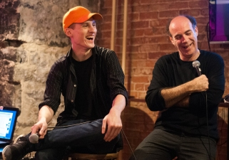 Contestant Isaac and comedian Karl Knox